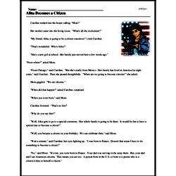 Print <i>Alita Becomes a Citizen</i> reading comprehension.
