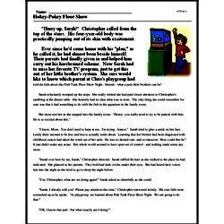 Print <i>Hokey-Pokey Floor Show</i> reading comprehension.