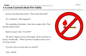 Fire Safety Week<BR>A Lesson Learned about Fire Safety