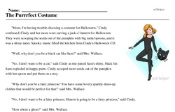 Print <i>The Purrrfect Costume</i> reading comprehension.