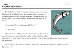 Cookie Cutter Week<BR>Cookie Cutter Shark
