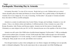 December 7 Daily theme<BR>Earthquake Mourning Day in Armenia