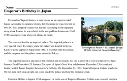 Emperor's Birthday in Japan