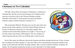 Christmas<BR>Christmas on Two Calendars