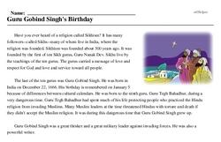 Guru Gobind Singh's Birthday