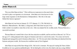 John Hancock's Birthday<BR>John Hancock
