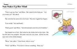 Make Up Your Mind Day<BR>Nan Makes Up Her Mind
