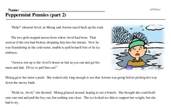 Print <i>Peppermint Pennies (part 2)</i> reading comprehension.