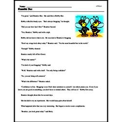 Print <i>Humble Bee</i> reading comprehension.