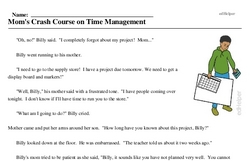 Print <i>Mom's Crash Course on Time Management</i> reading comprehension.