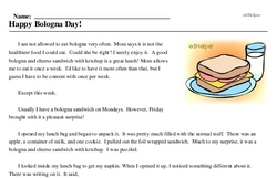 National Bologna Day<BR>Happy Bologna Day!