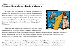 Massacre Remembrance Day in Madagascar
