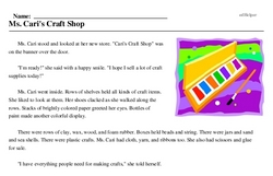 National Craft Month<BR>Ms. Cari's Craft Shop