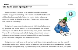 Spring Fever Week<BR>The Facts about Spring Fever