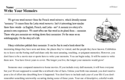 Write Your Memoirs Day<BR>Write Your Memoirs