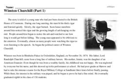 Print <i>Winston Churchill (Part 1)</i> reading comprehension.