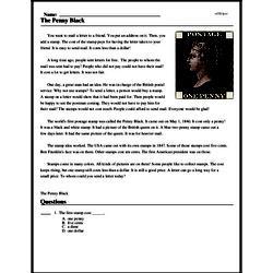 Print <i>The Penny Black</i> reading comprehension.