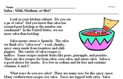 National Salsa Month<BR>Salsa - Mild, Medium, or Hot?