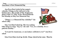 Memorial Day<BR>Ana Rosa's First Memorial Day