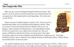 Guy Fawkes Day<BR>The Gunpowder Plot
