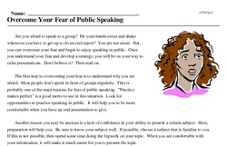 Freedom From Fear of Speaking Day<BR>Overcome Your Fear of Public Speaking