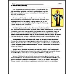 Print <i>St. Peter and Paul Day</i> reading comprehension.