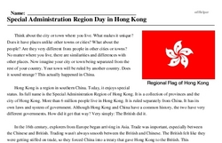 Special Administration Region Day in Hong Kong