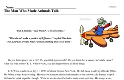 E.B. White<BR>The Man Who Made Animals Talk