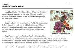 Marc Chagall<BR>Russian-Jewish Artist