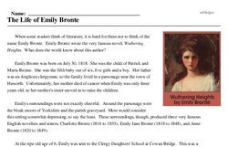 Emily Bronte<BR>The Life of Emily Bronte