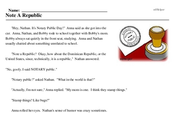 Notary Public Day<BR>Note A Republic