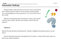Punctuation Challenge