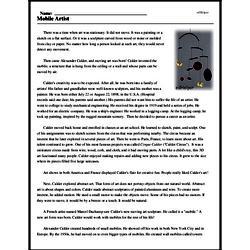 Print <i>Mobile Artist</i> reading comprehension.