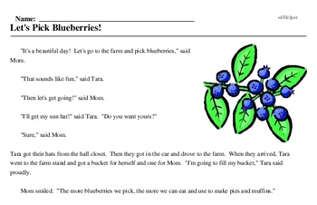 Blueberry Month<BR>Let's Pick Blueberries!
