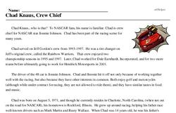 Chad Knaus<BR>Chad Knaus, Crew Chief