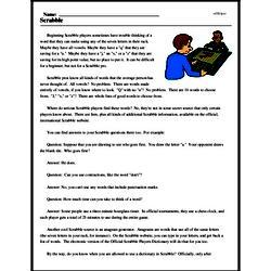 Print <i>Scrabble</i> reading comprehension.
