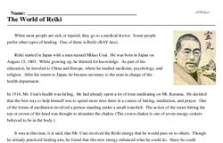 World of Reiki Day<BR>The World of Reiki