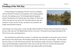 Flooding of the Nile Day