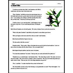 Print <i>A Smart Idea</i> reading comprehension.