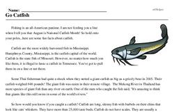 National Catfish Month<BR>Go Catfish