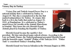 Print <i>Victory Day in Turkey</i> reading comprehension.
