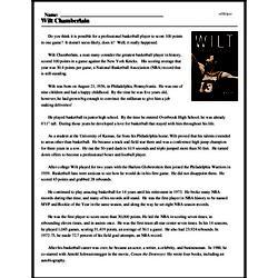 Print <i>Wilt Chamberlain</i> reading comprehension.