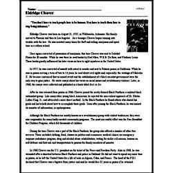 Print <i>Eldridge Cleaver</i> reading comprehension.