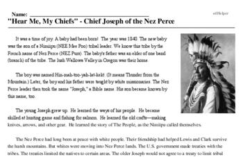Chief Joseph<BR>