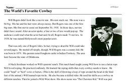 Will Rogers<BR>The World's Favorite Cowboy