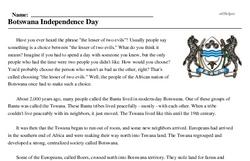 Botswana Independence Day