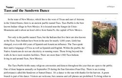 Sundown Dance of the Taos Indians<BR>Taos and the Sundown Dance