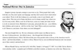 National Heroes Day in Jamaica