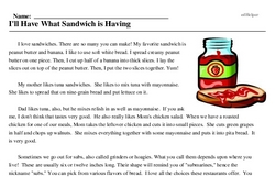 Sandwich Day<BR>I'll Have What Sandwich is Having