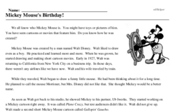 Mickey Mouse's Birthday<BR>Mickey Mouse's Birthday!